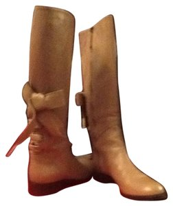 Valentino Riding Boot Equestrian Nude Boots
