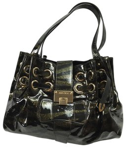 Jimmy Choo Patent Leather Xl Shoulder Bag