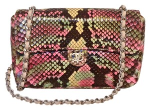 Chanel Classic Snakeskin Snakeskin Classic Flap Shoulder Bag