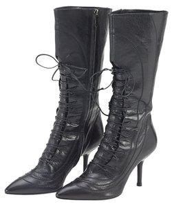 Sergio Rossi Leather Black Boots