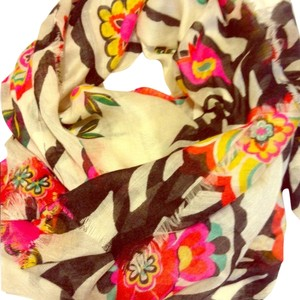 Old Navy Colorful Floral Scarf