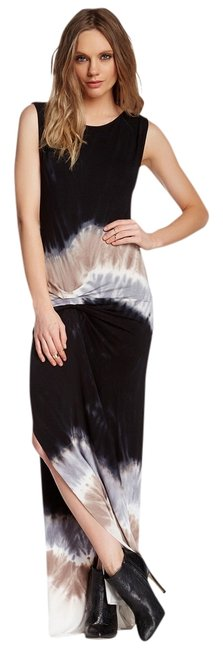 Item - Black Taupe Grey Ombre Bryton Long Casual Maxi Dress Size 4 (S)
