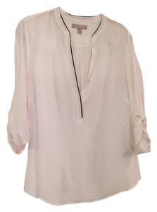 Banana Republic Silk Lightweight Top Cream