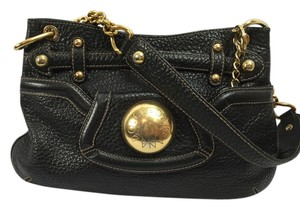 Dolce&Gabbana Leather Gold Hardware Shoulder Bag