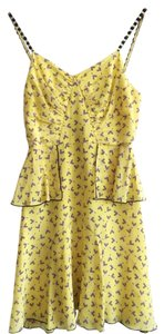 Anna Sui short dress Yellow on Tradesy