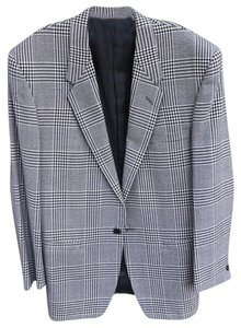 Versace Vintage Checkered Black and White Blazer