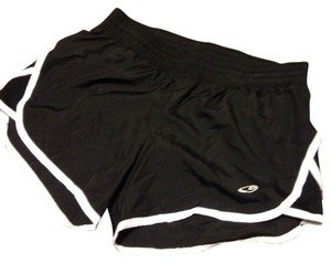 Champion Built In Briefs Running Breifs Black and White Shorts
