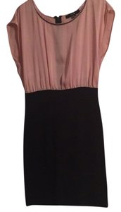 Forever 21 short dress Black and pink on Tradesy