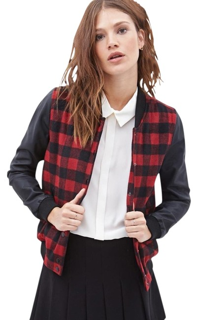 Item - Red/ Black Plaid Jacket Size 4 (S)