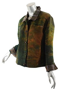 RANDALL DARWALL Rust & Green Ombre Jacket
