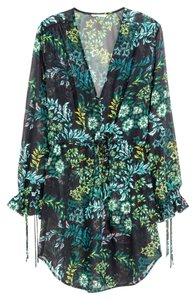 H&M short dress Green Flowy Pattern Empire Waist on Tradesy