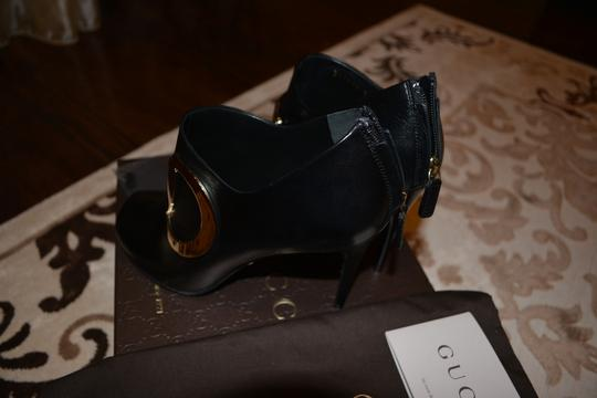 Gucci Rooney Horsebit And Silver Black Boots