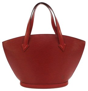 Louis Vuitton Saint Jacques Epi Tote in Red