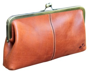 Patricia Nash Designs Leather Distressed Leather Frame saddle Clutch