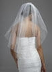 David's Bridal Ivory Medium Rhinestone and Pearls Style V177 Bridal Veil