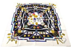 Hermès HERMES Scarf 100% Silk GRAND MANEGE Red Multi-Color -790