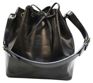 Louis Vuitton Drawstring Draped Leather Shoulder Bag