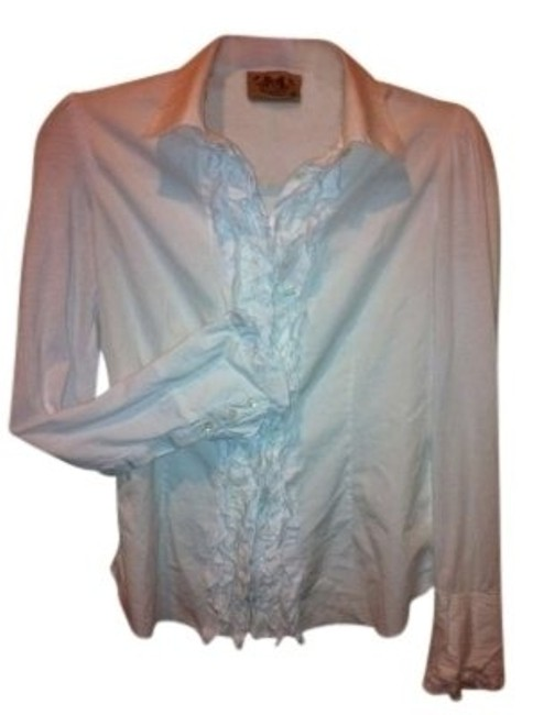 Preload https://item5.tradesy.com/images/juicy-couture-white-reduced-ruffle-front-woven-and-knit-blouse-s-great-price-button-down-top-size-6--132164-0-0.jpg?width=400&height=650