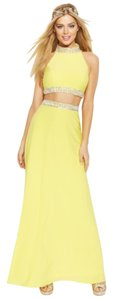 Joanna Chen Sleeveless Jewel-Trim Two-Piece Dress