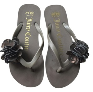 Juicy Couture Gray Sandals