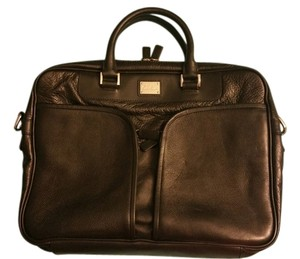 Cole Haan Leather Double Pocket Laptop Bag