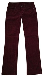 J.crew Corduroy Corduroy Straight Pants Dark Red Maroon