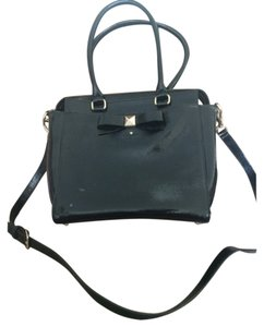 Kate Spade Leather Work Used Satchel in Black