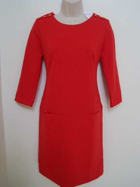 Preload https://item4.tradesy.com/images/banana-republic-vermillion-redorange-shift-knee-length-workoffice-dress-size-4-s-132178-0-0.jpg?width=400&height=650