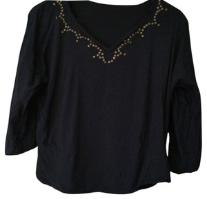 Ella Moss Top Navy