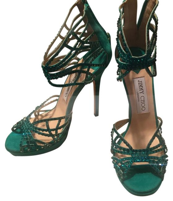 Item - Emerald Green 'diva' Formal Shoes Size US 6 Regular (M, B)
