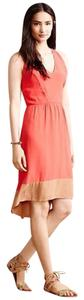 Sam & Lavi short dress Coral, Beige Color-blocking Gold Hardware on Tradesy