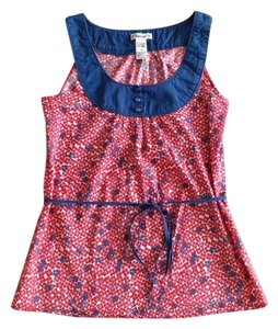 Forever 21 Top Red Blue Floral