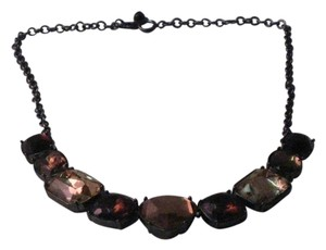 Rhinestone Choker with Varying Shades of Browns/Varying Sized Stones
