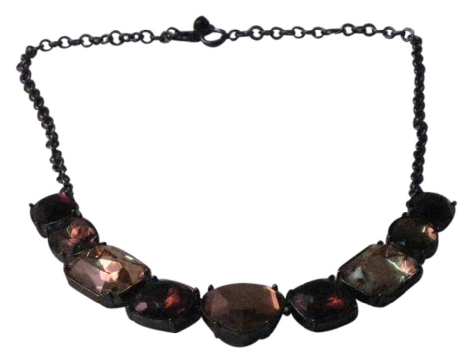 Other Rhinestone Choker With Varying Shades Of Browns Sized Stones