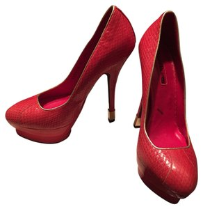 Cesare Paciotti Red Platforms