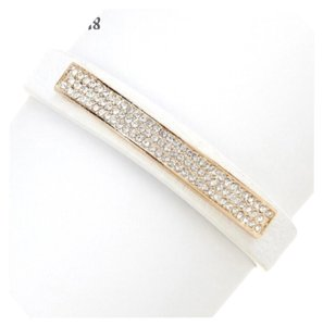 New Faux Leather Pave Crystal Bracelet High Quality