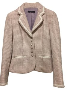 Elie Tahari Tweed Grossgrain Ribbon Lilac/Lavender Jacket