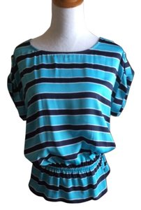 Michael Kors Top Striped blue pattern