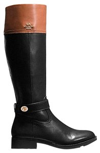 Coach Black/saddle Boots