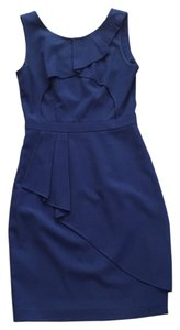 BCBGeneration Bcbg Blue A-line With Ruffle Detailing Dress