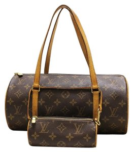 Louis Vuitton Pouch Lv Gold Hardware Rare Satchel in Monogram