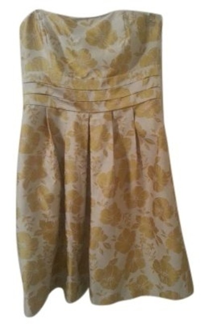 Preload https://item2.tradesy.com/images/ann-taylor-yellow-and-cream-50-sann-taylorcream-yellowcocktail-knee-length-cocktail-dress-size-14-l-132206-0-0.jpg?width=400&height=650