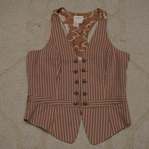 Tracy Reese Striped Tan Vest