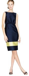 J.Crew Colorblock Silk V-back Work Dress