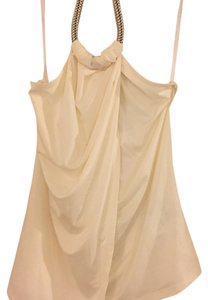 bebe Cream Halter Top