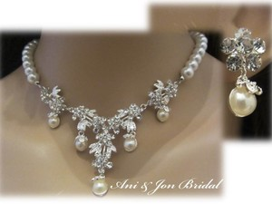 Limited Time Sale- Bridal Jewelry Set Crystal And Pearl