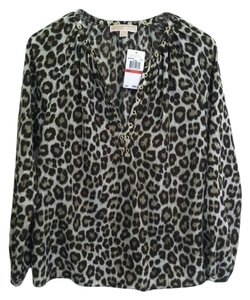 Michael Kors Top Green Leopard