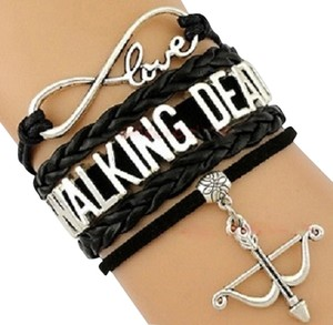 Infinity, Love, Walking Dead (inspired) Bracelet with Bow and Arrow