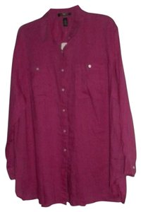 Ralph Lauren Utility Shirt Plus Size Button Down Shirt Pink HBSCS