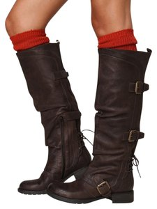 Boutique 9 Knee Boot Leather Brown Boots